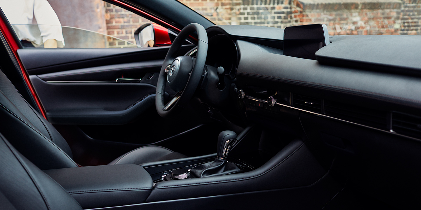 Interior of the 2020 MAZDA3 Hatchback