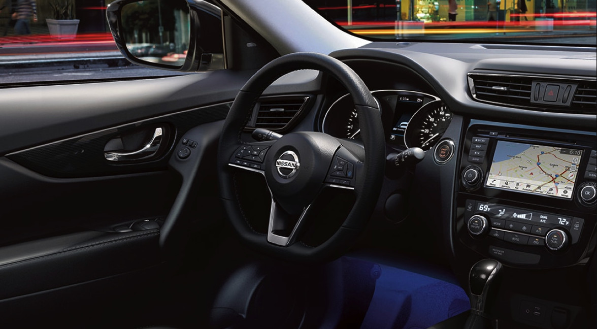 Interior of the 2020 Nissan Rogue