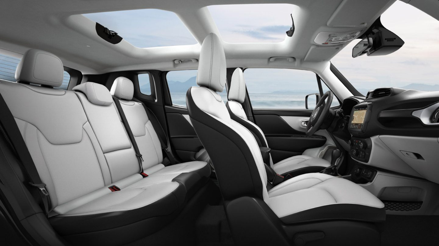 Interior of the 2020 Jeep Renegade