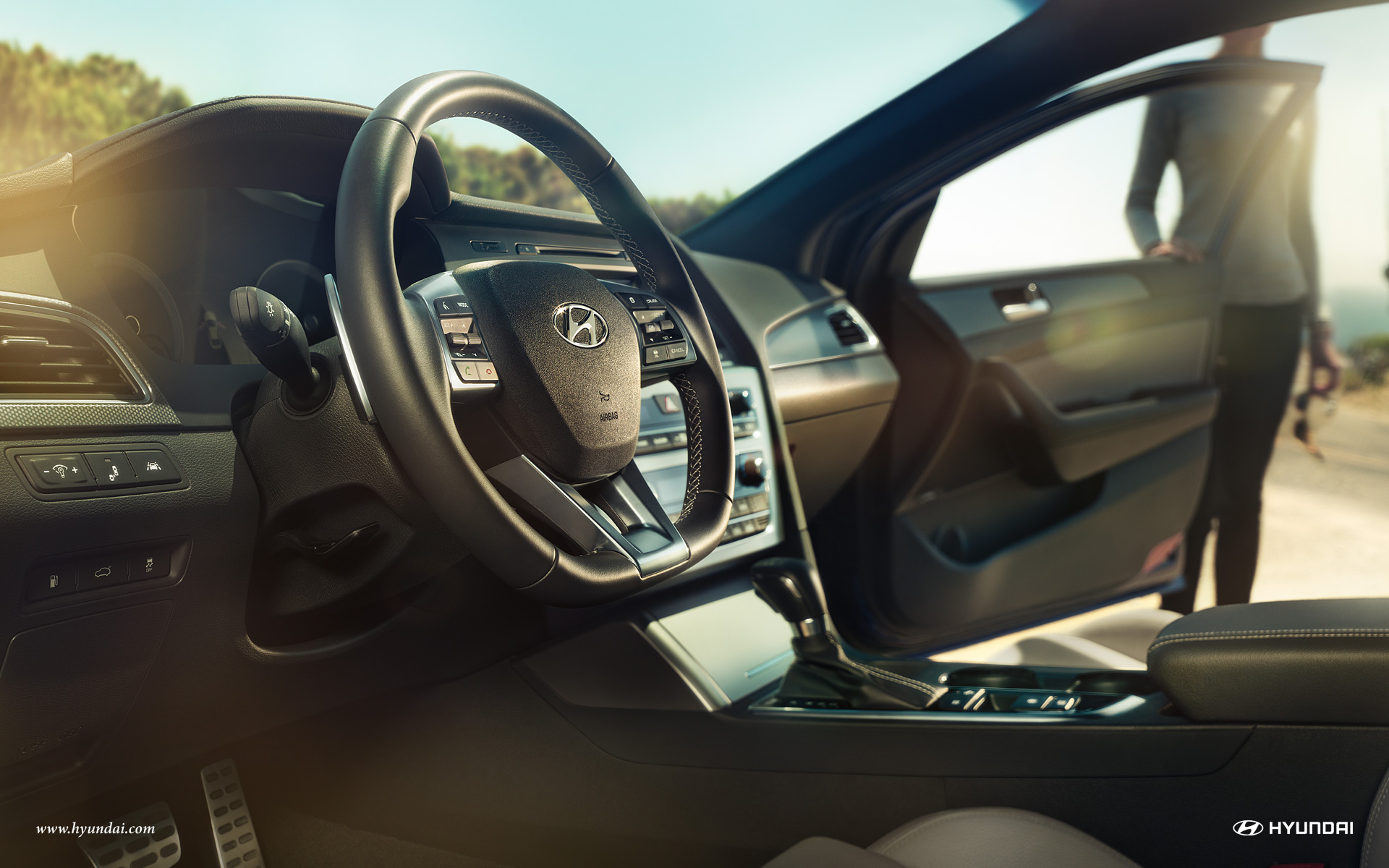 Steering Wheel on the 2016 Hyundai Sonata