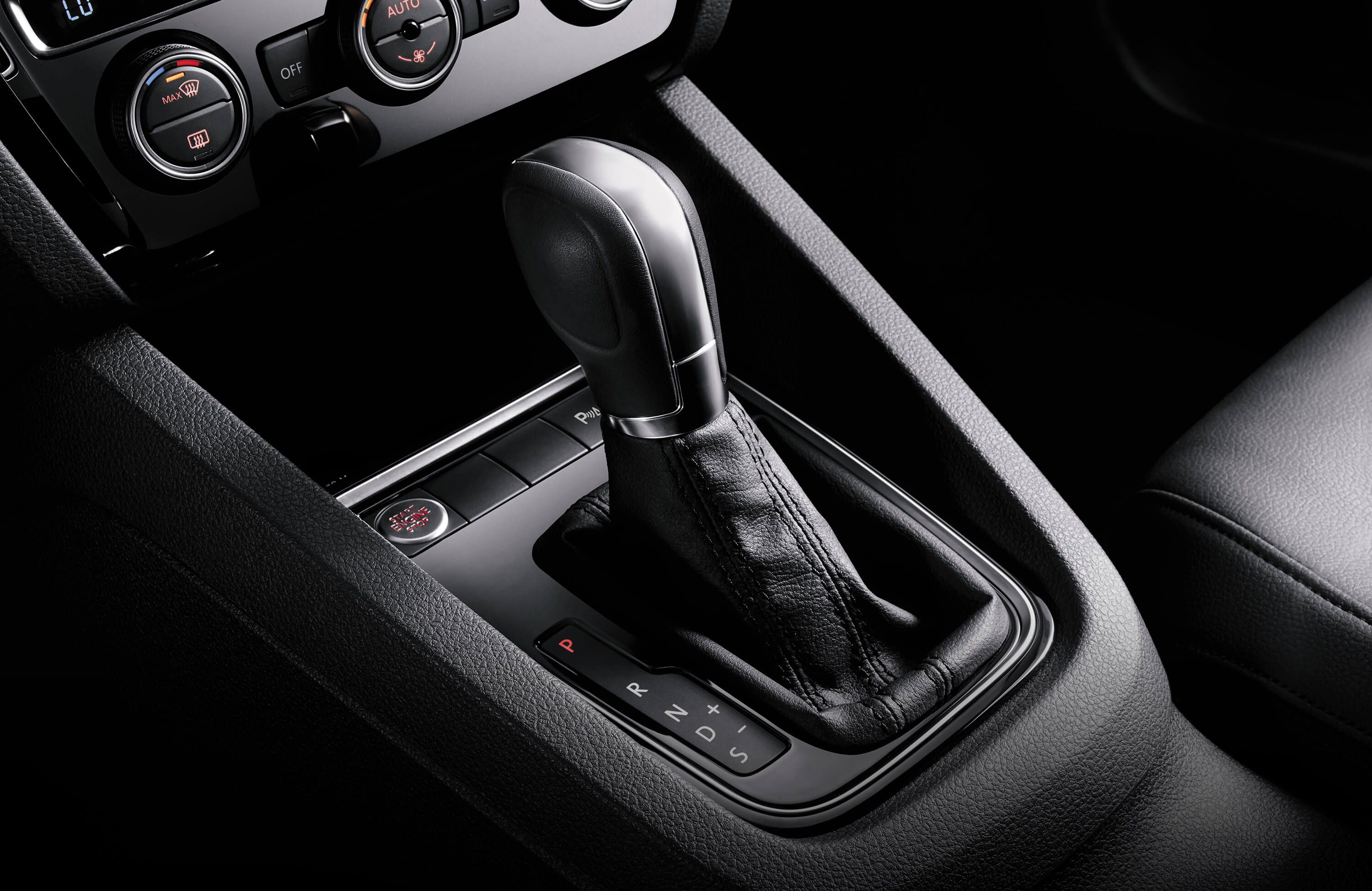 Leather-wrapped Shift Knob in the VW Jetta
