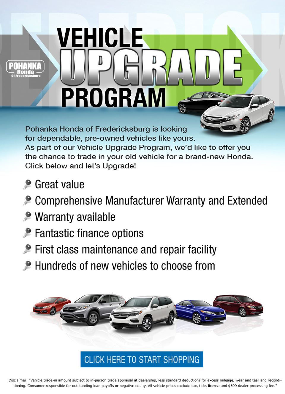 Pohanka Vehicle Upgrade Program - Pohanka Honda of Fredericksburg