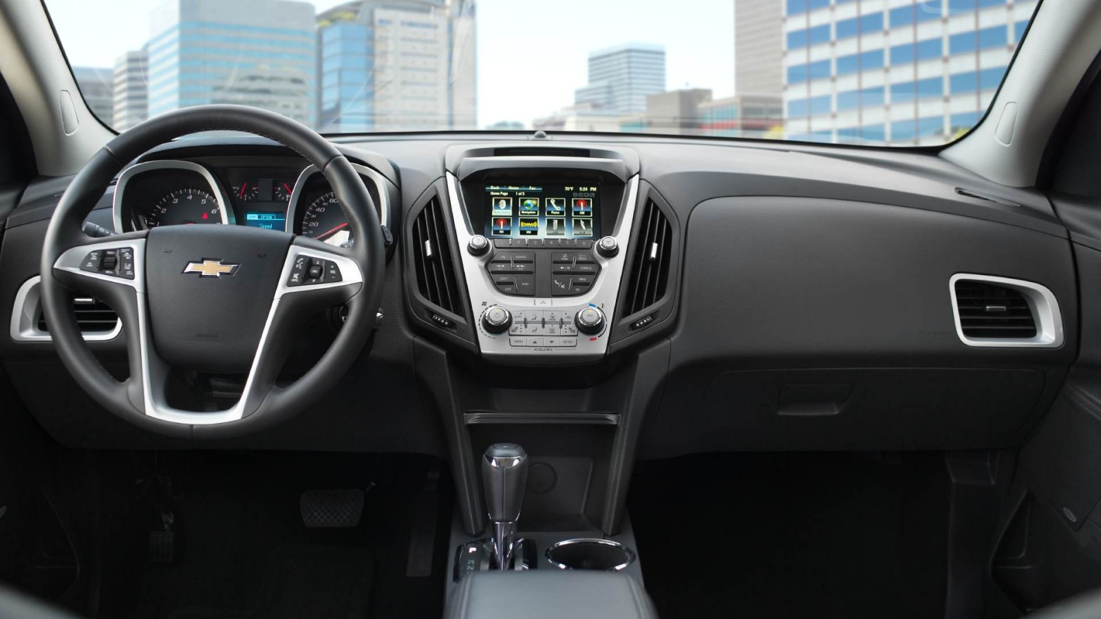 Interior of the 2016 Chevy Equinox