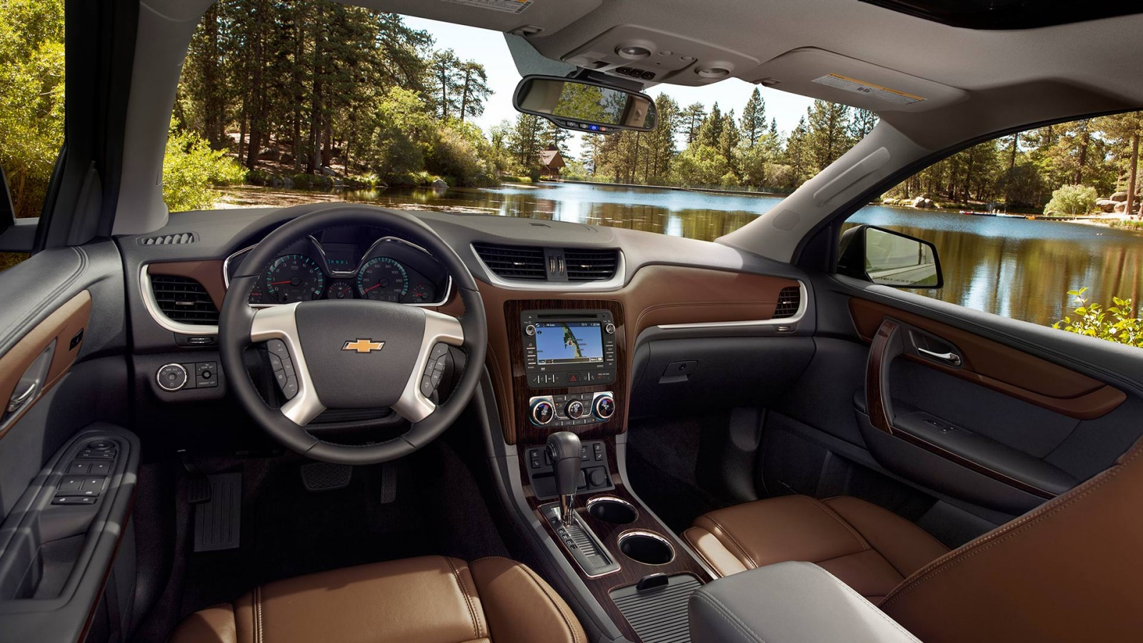 Interior of the 2016 Chevy Traverse