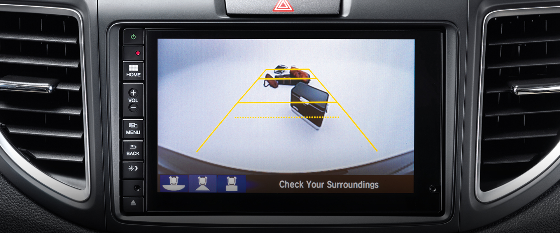 Honda CR-V Multi-Angle Rearview Camera with Guidelines