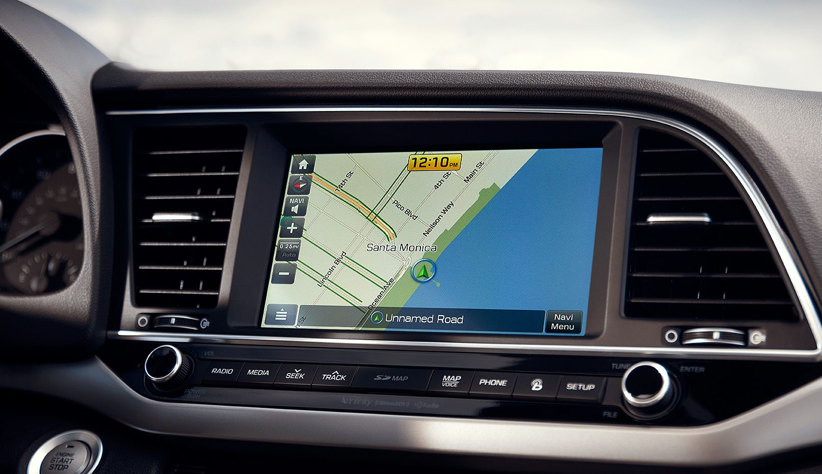 Hyundai Elantra 8-Inch Touchscreen with Navigation