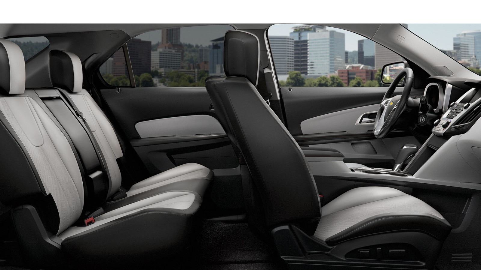 Interior of the 2017 Chevy Equinox