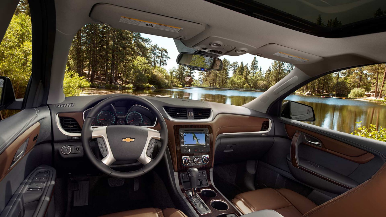 Interior of the 2017 Traverse