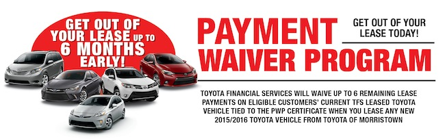 Toyota Payment Waiver | Toyota Financing Serving Randolph ^