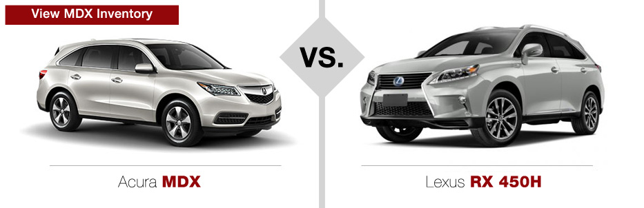 Acura Vs Lexus Comparison Muller S Woodfield Acura