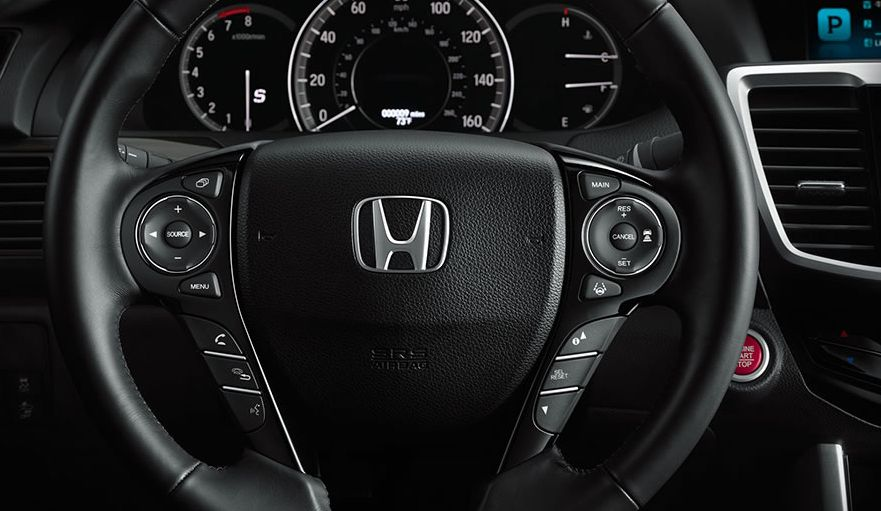2017 Accord Leather-Wrapped Steering Wheel