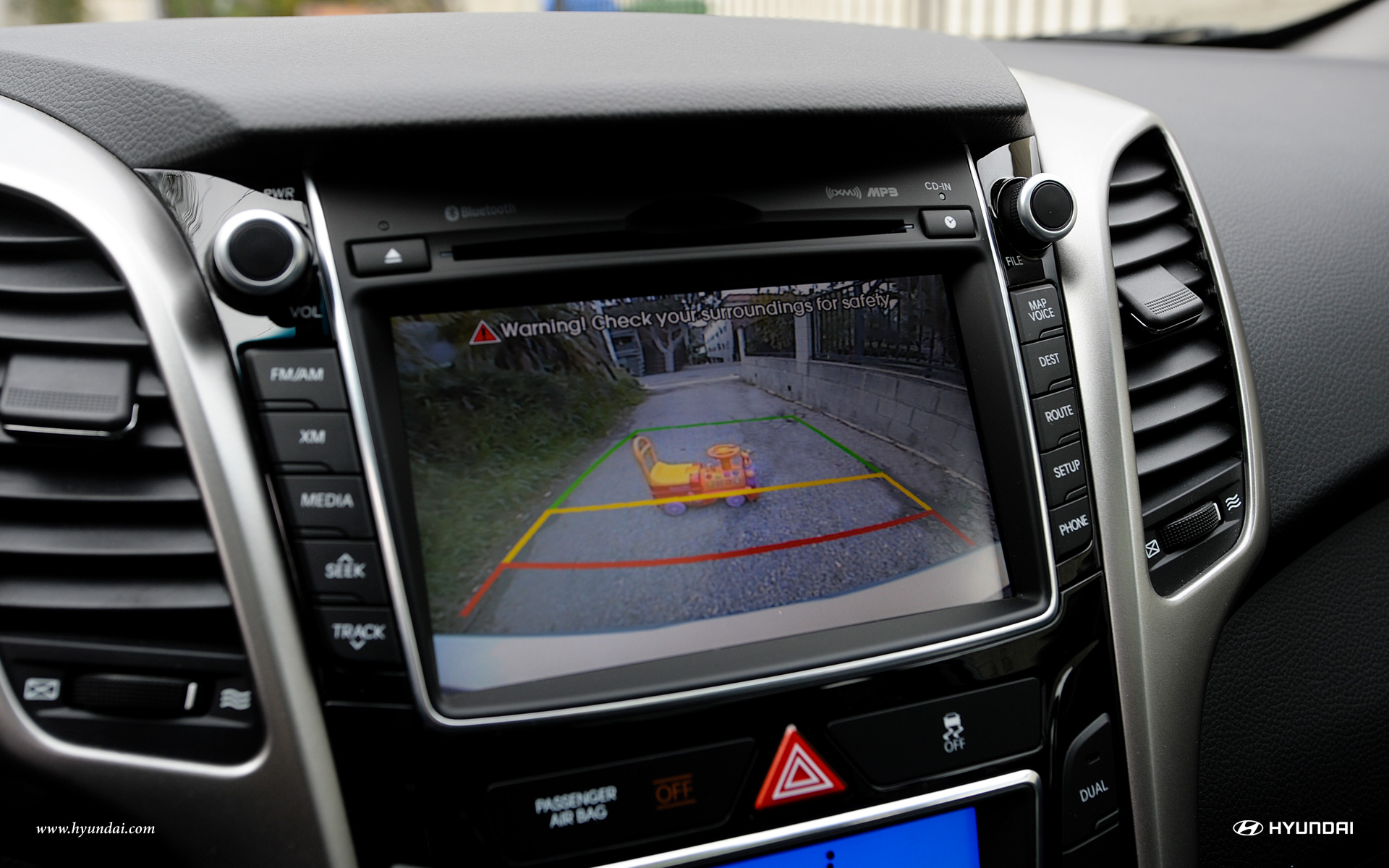 The Rearview Camera on the Elantra GT adds Peace of Mind!