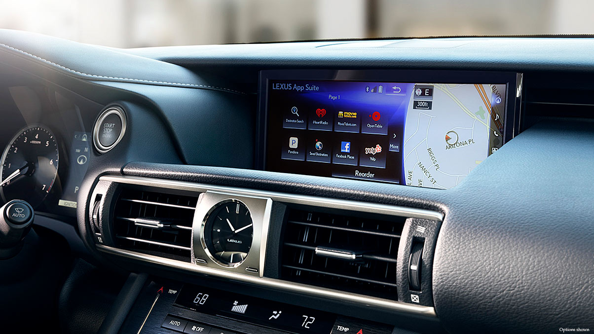 The Lexus IS 300 Boasts a Large Center Display!