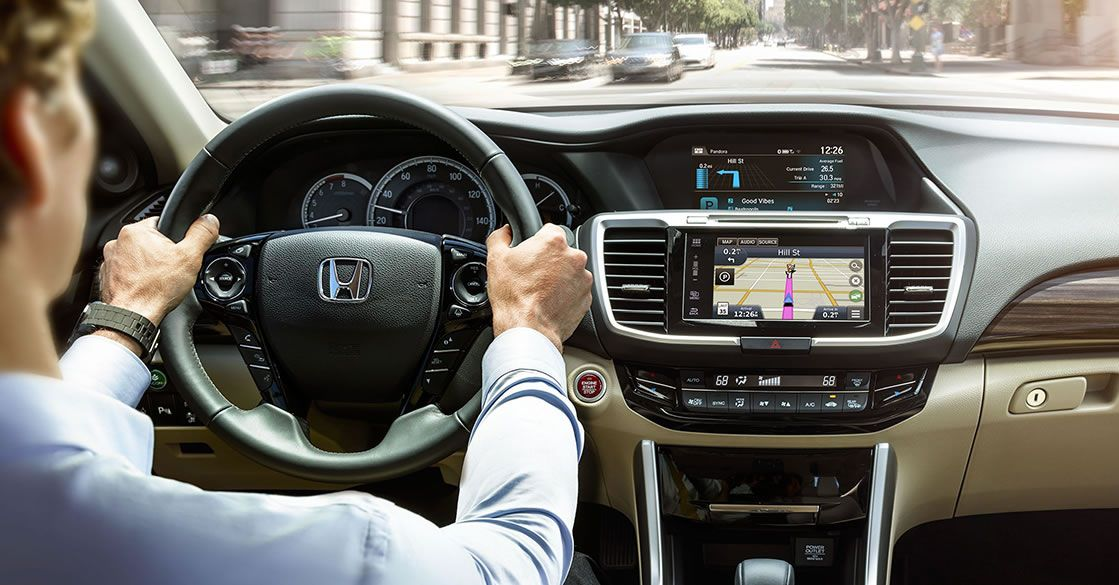 The 2017 Accord with the Honda Satellite-Linked Navigation System™