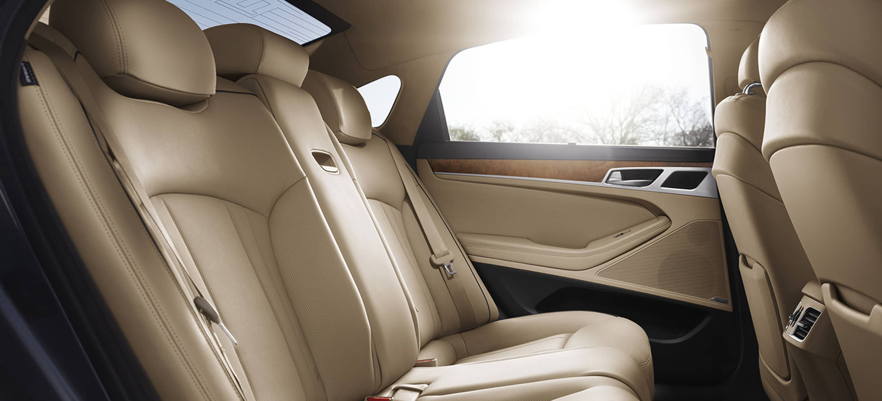 Full-Grain Leather Seating in the Genesis G80!