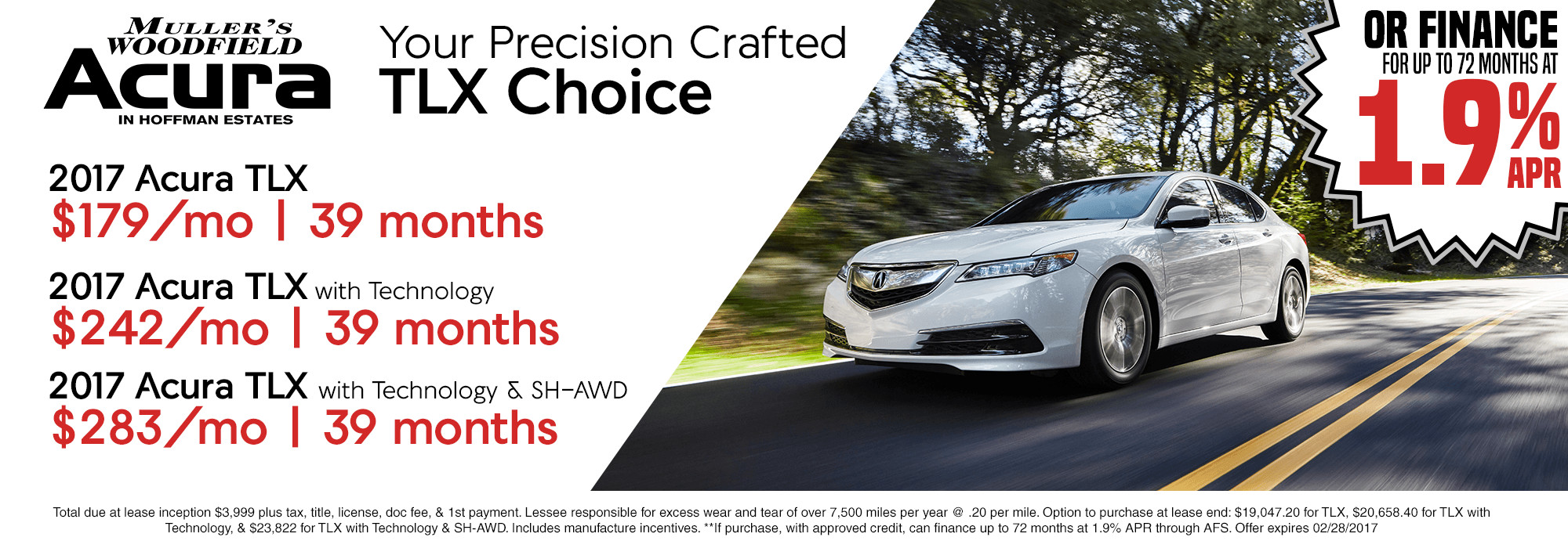 New Vehicle Specials - Muller's Woodfield Acura on