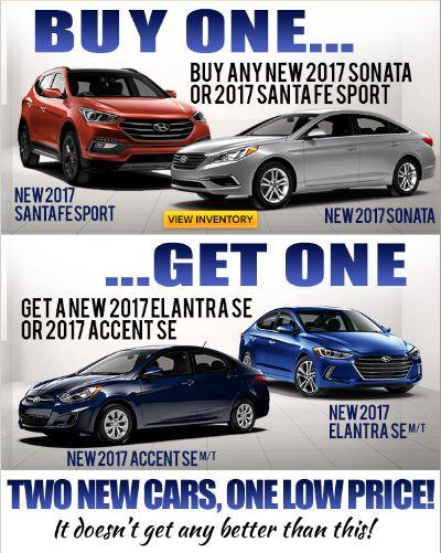 Bogo Car Deals >> Buy One Get One Pohanka Hyundai Of Fredericksburg