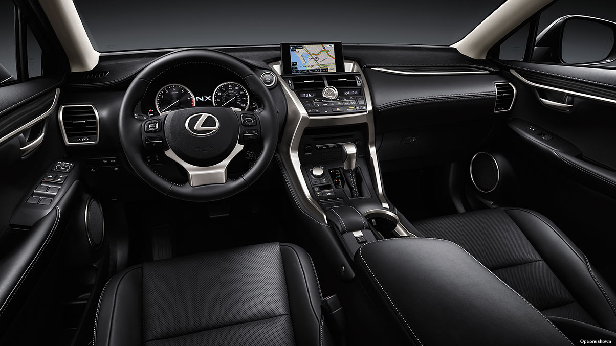 The NX 200t has a Luxurious Interior