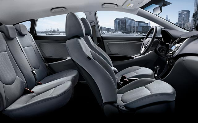 Spacious 5-Passenger Capacity of the Accent