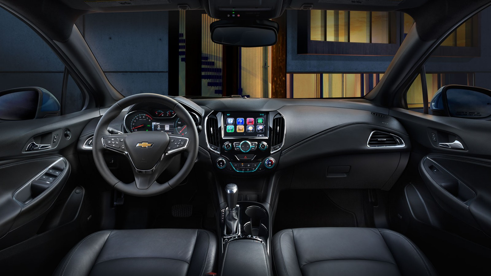 Interior del Chevy Cruze 2017