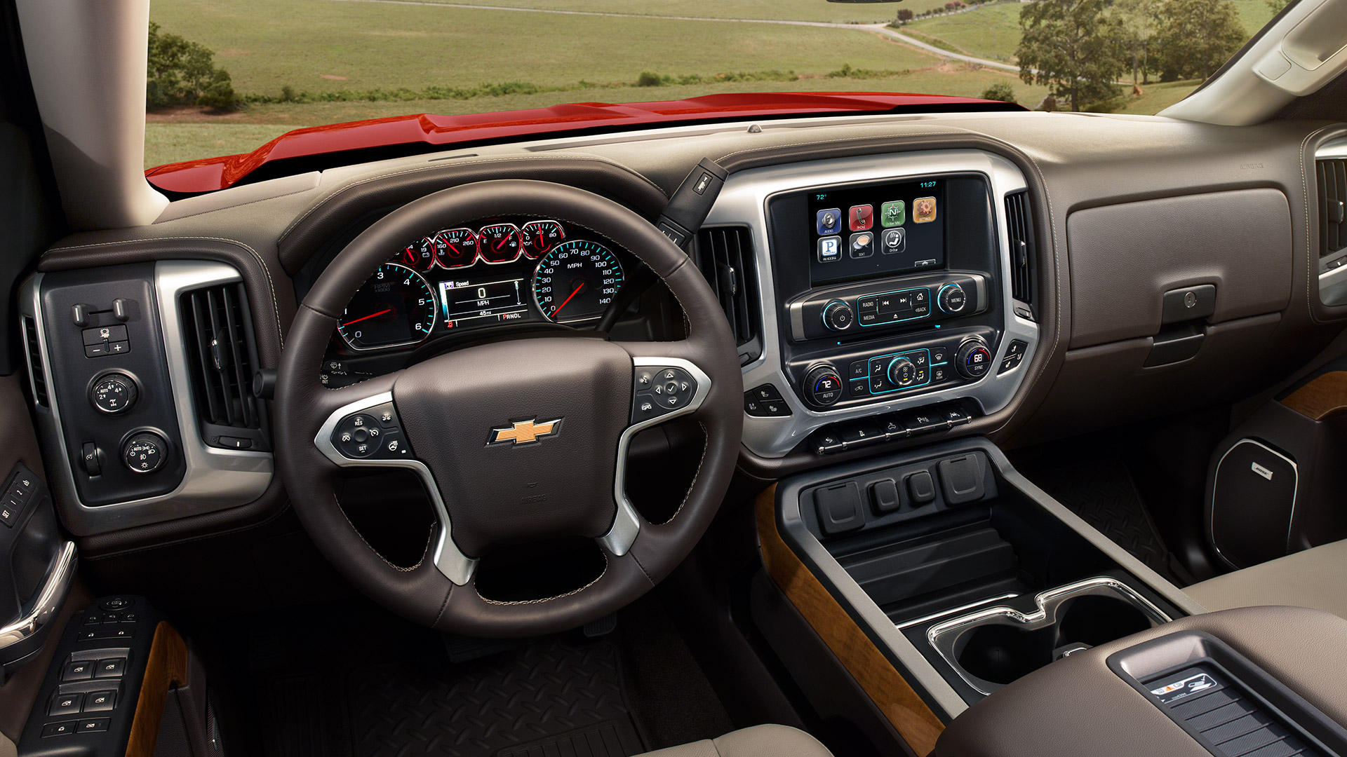 Interior of the 2017 Chevrolet Silverado 1500