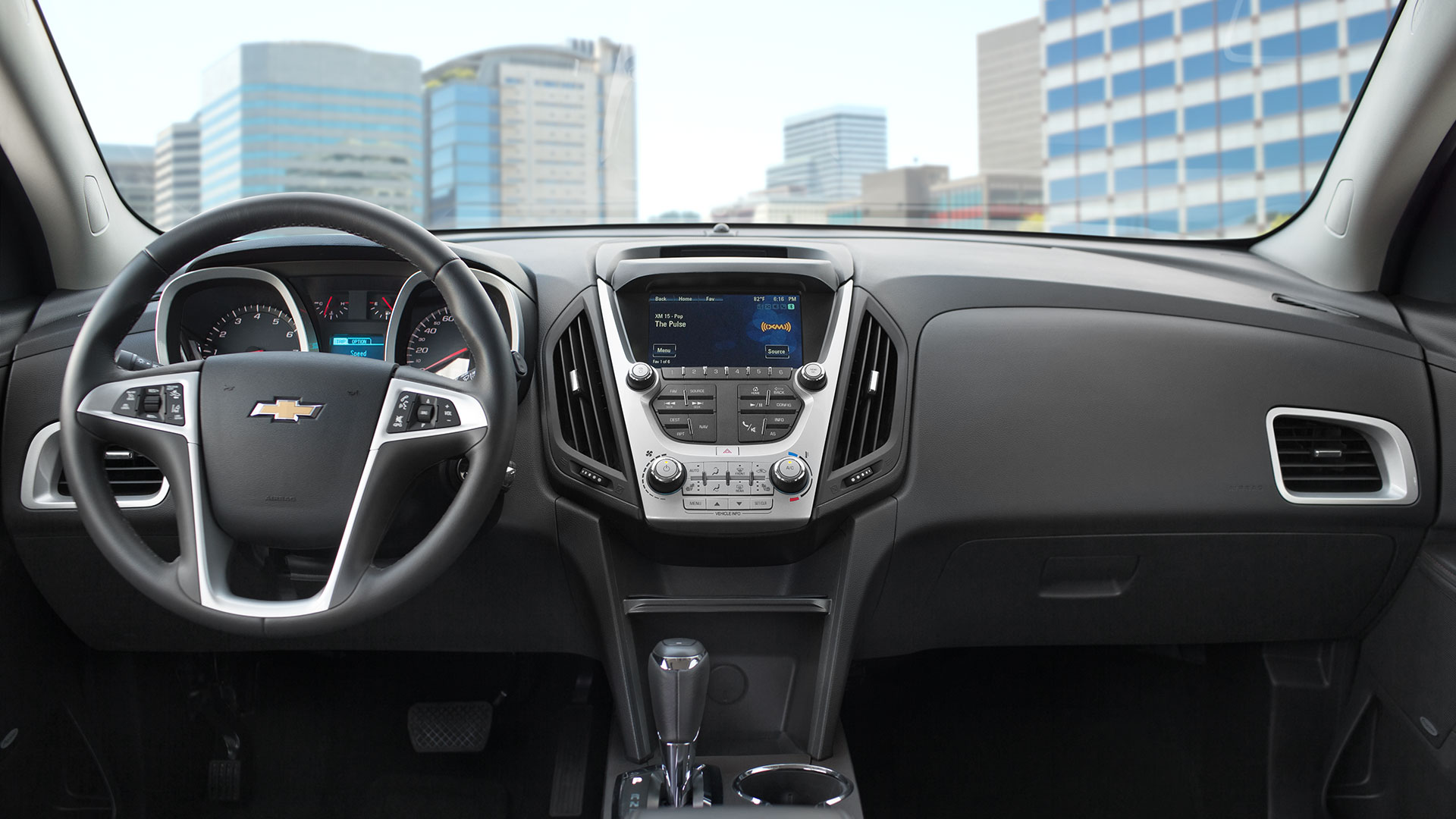Interior of the 2017 Chevrolet Equinox
