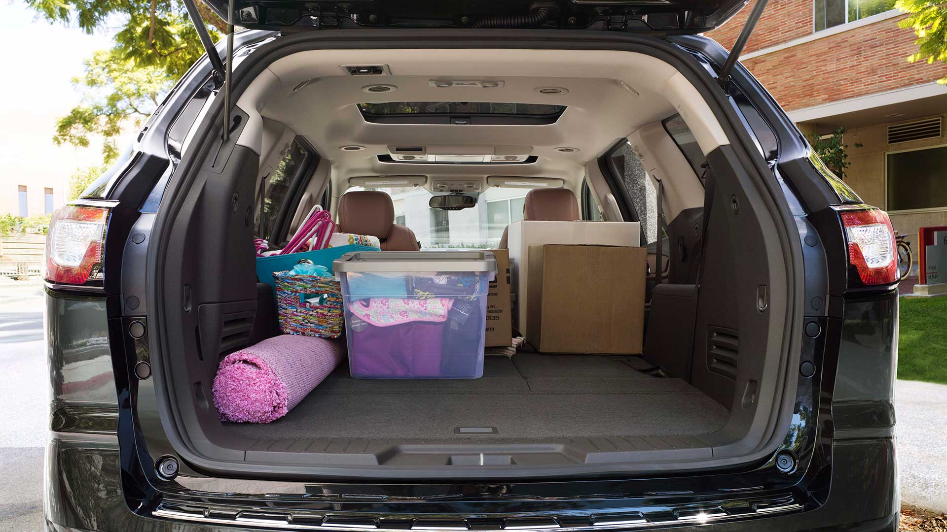 Cargo space of the 2017 Chevrolet Traverse