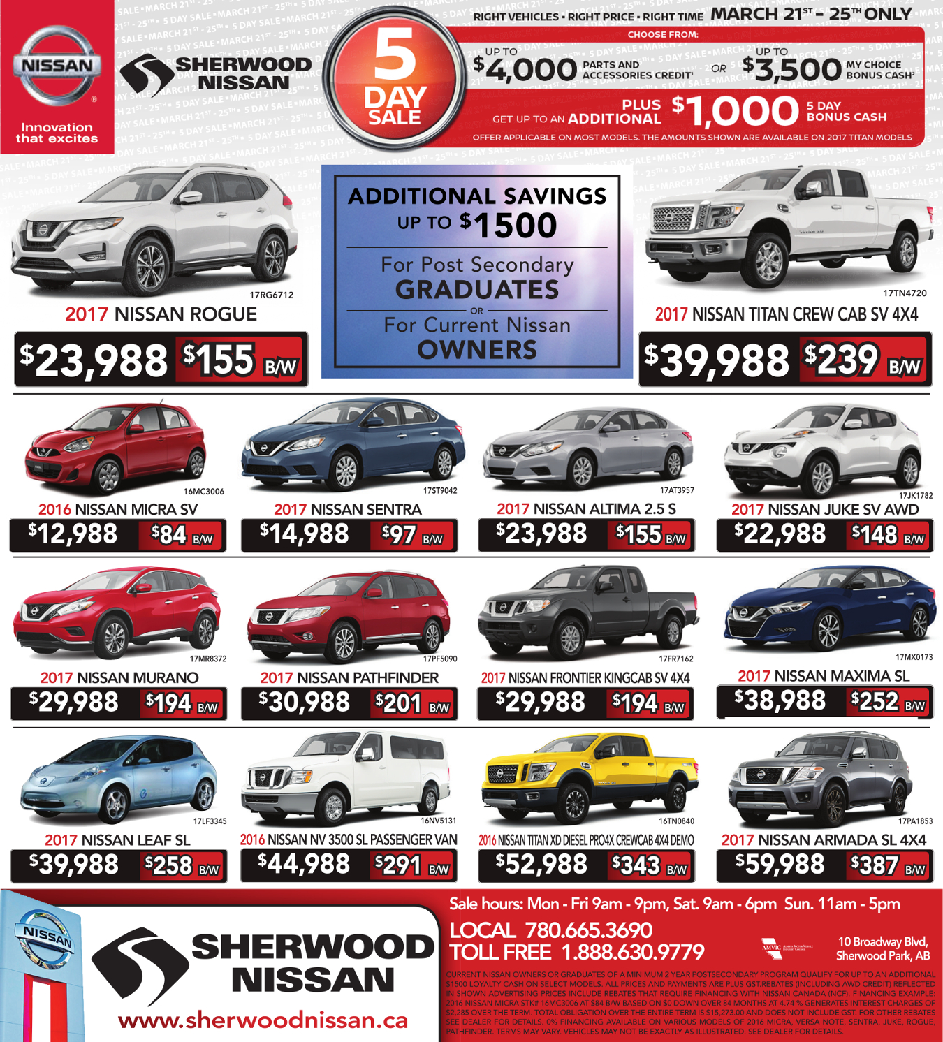 New Car Print Ad Sherwood Nissan