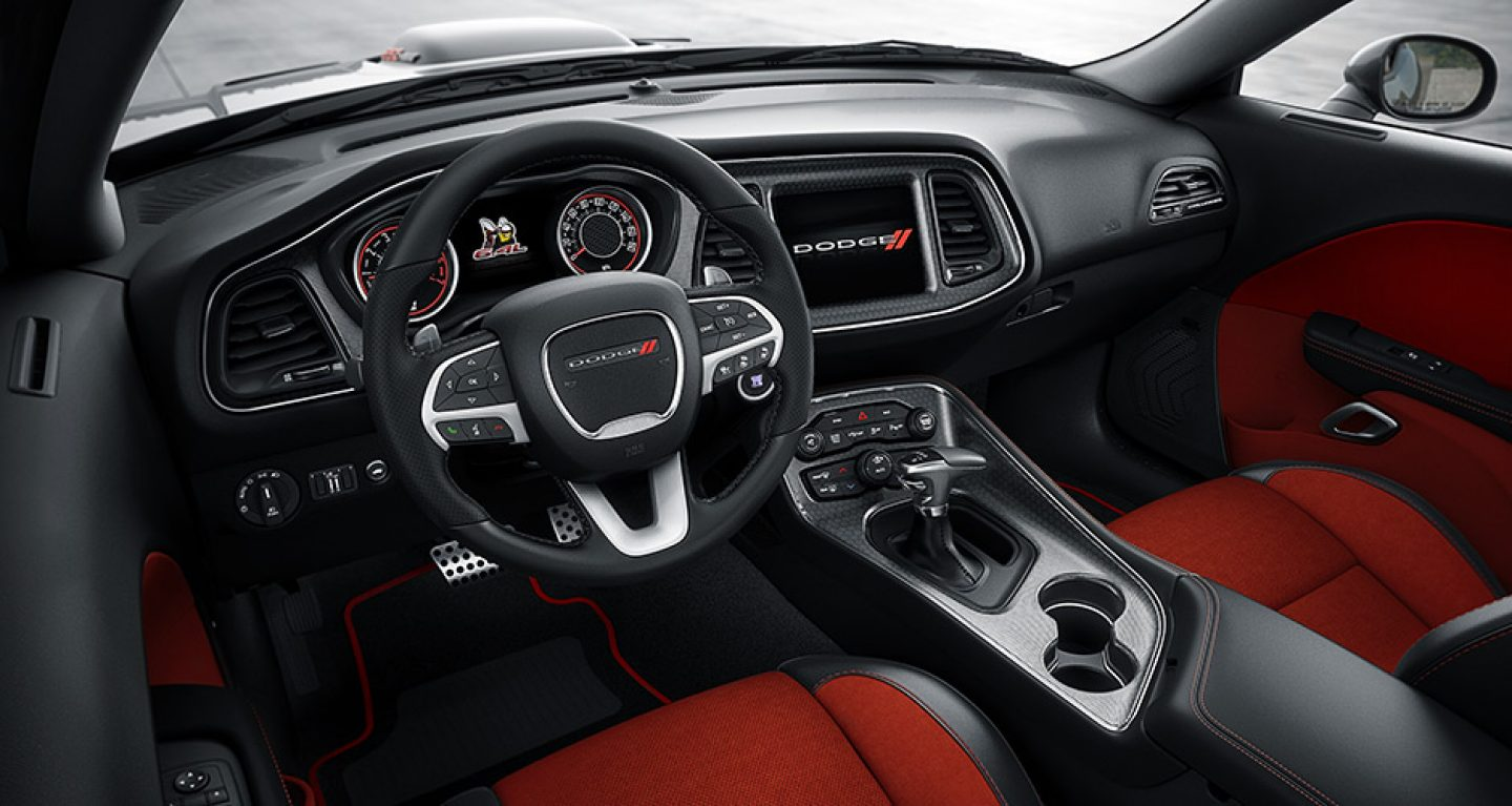 The Interior of the 2017 Dodge Challenger
