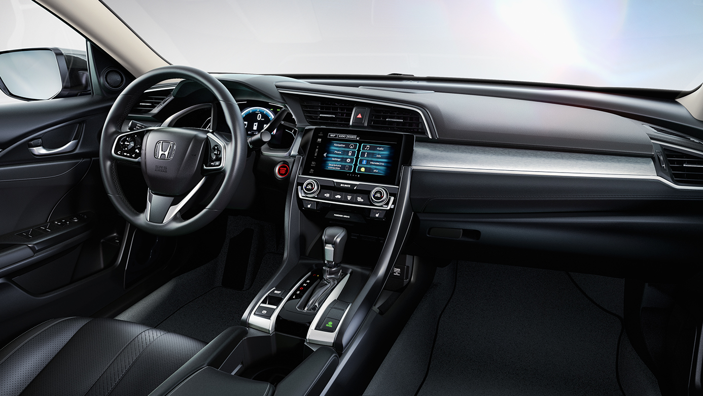 Interior of the 2017 Honda Civic