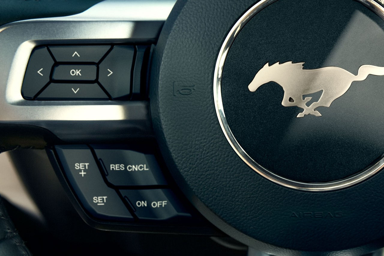 The Logo on the 2017 Mustang Steering Wheel