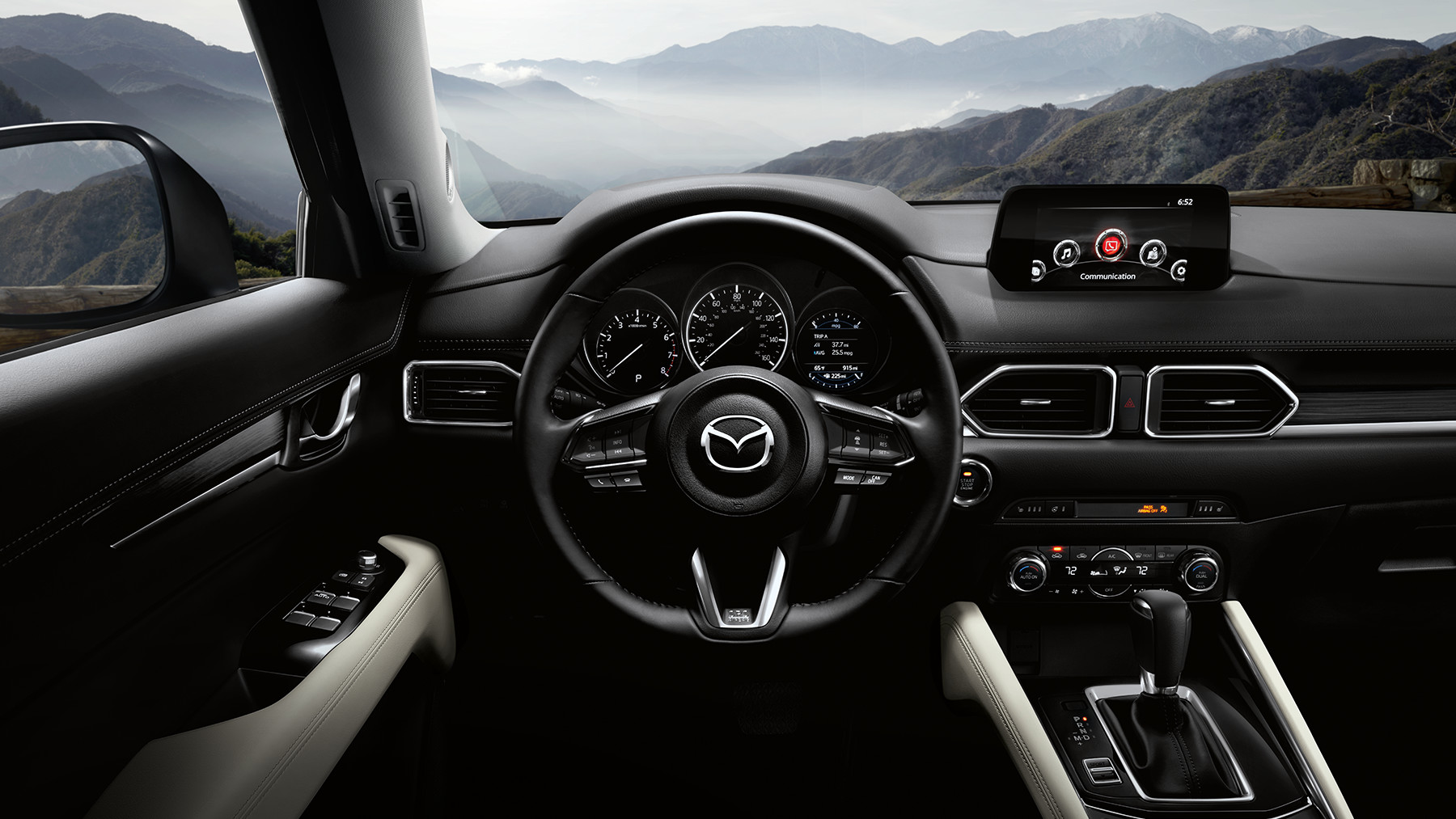 Dashboard-mounted Amenities within the Mazda CX-5
