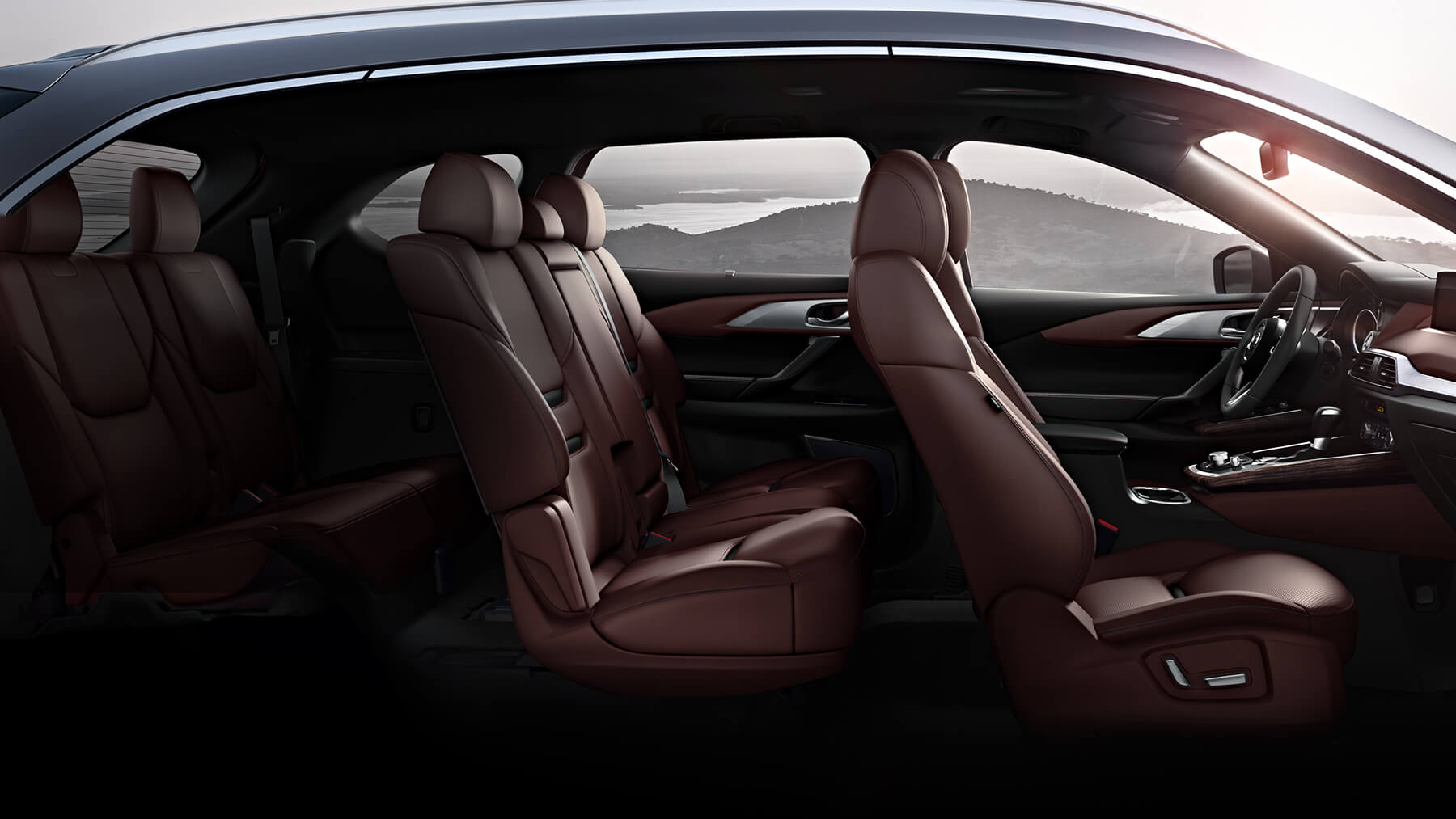 Vast 3-row Seating within the CX-9