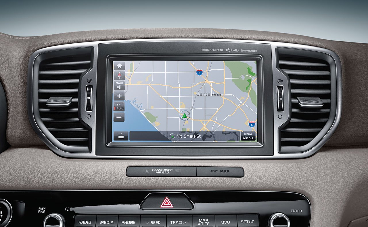 The 8-inch Touchscreen on the 2017 Sportage