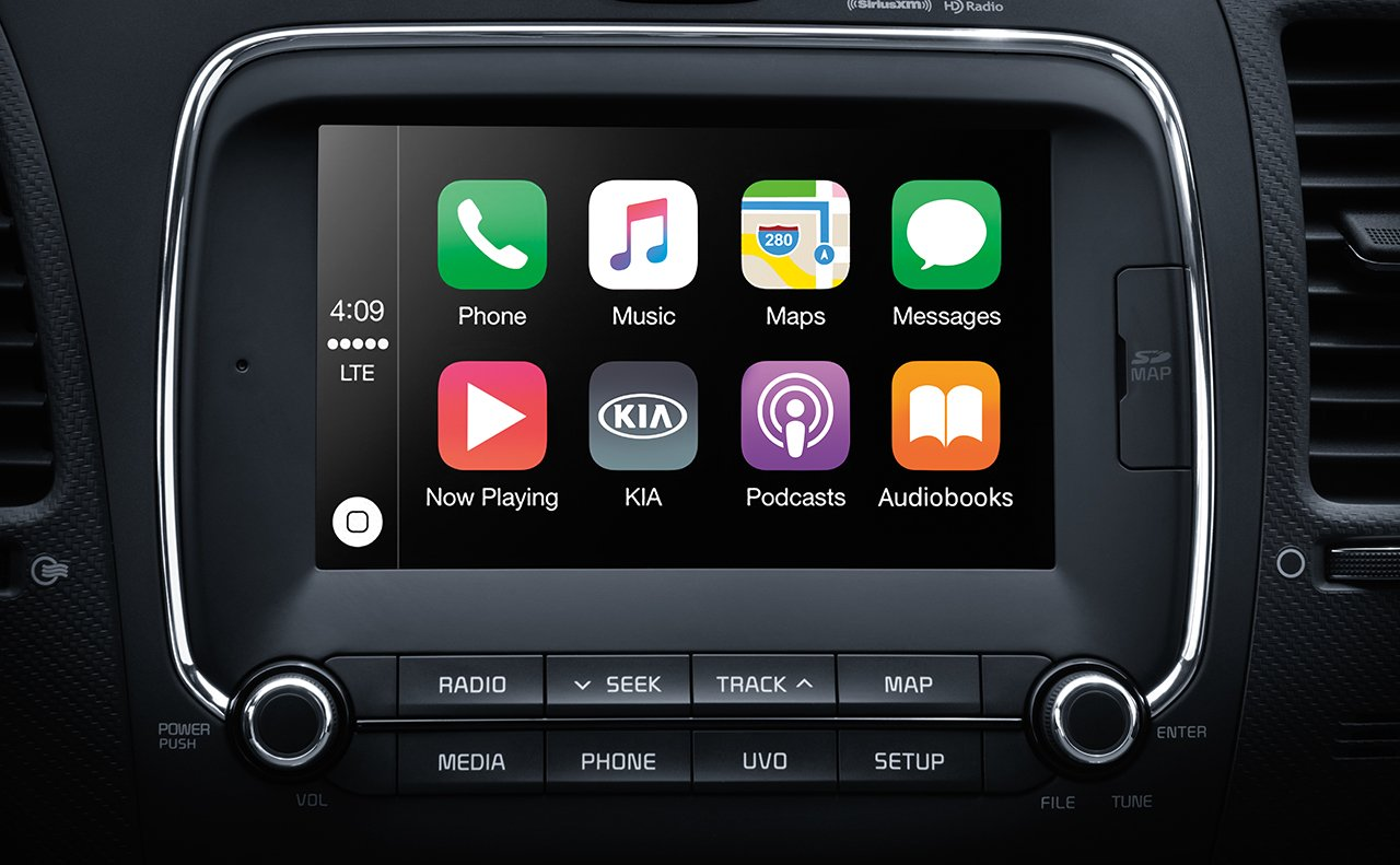 The 2017 Forte's Center Stack Touchscreen