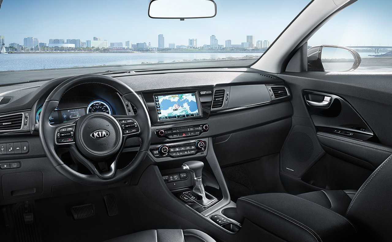 Interior of the 2017 Kia Niro