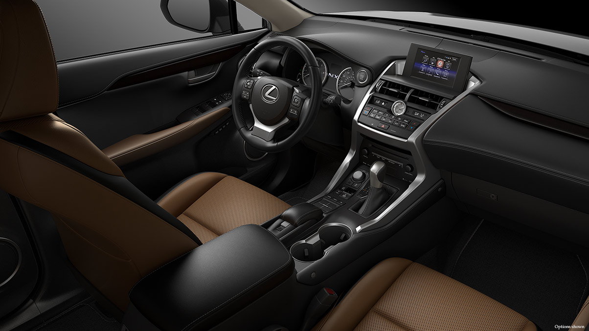 Interior of the 2017 NX 200t