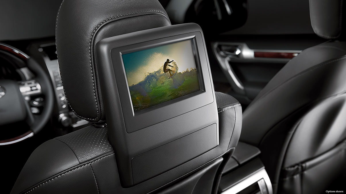 The Rear Entertainment System in the GX 460