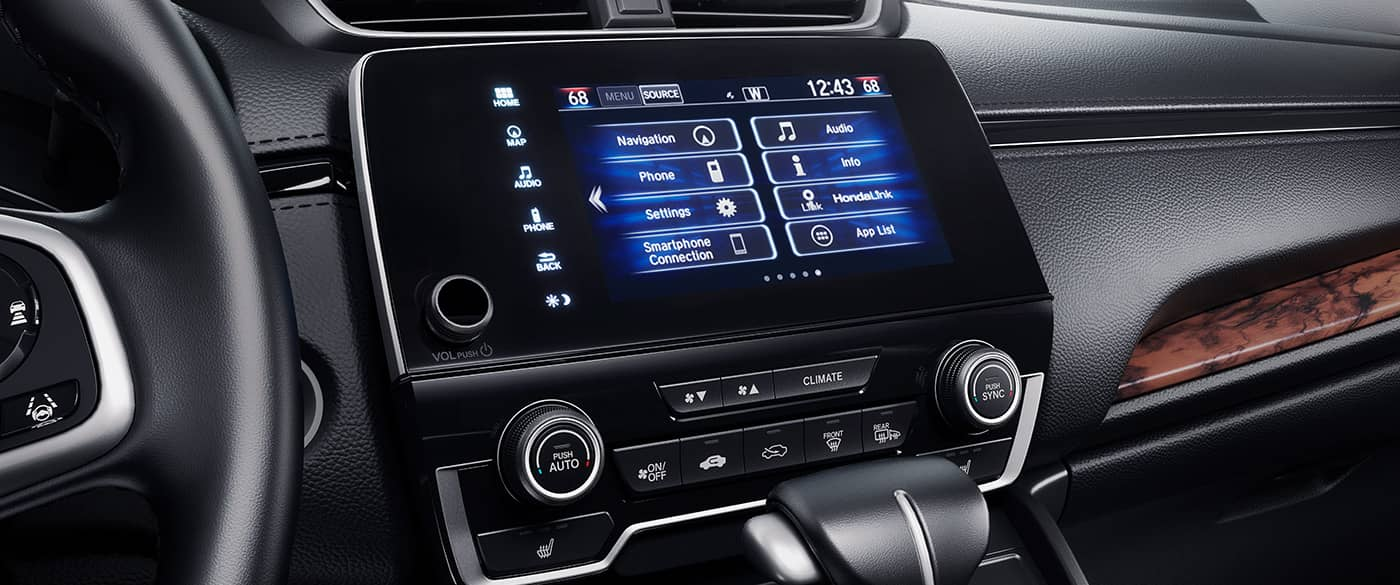 The CR-V with the Available 7-inch Touchscreen