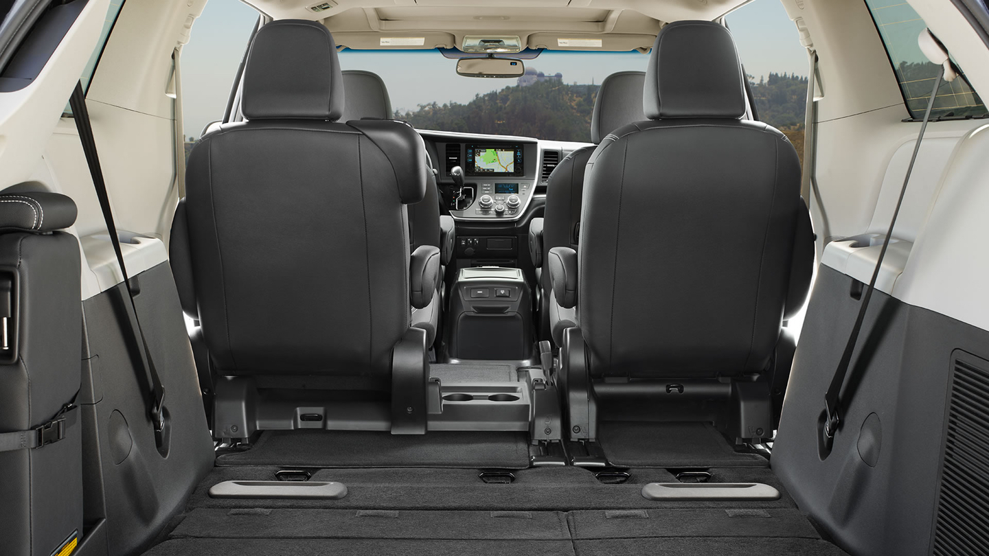 Interior of the Toyota Sienna