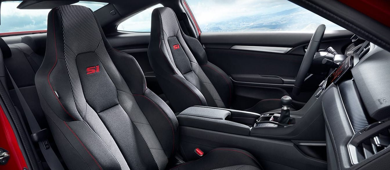 2018 honda civic si. simple 2018 sporty interior of the 2018 civic si and honda civic si 1