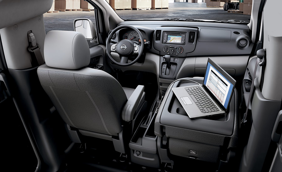 The Nissan NV 200's Convenient Work Station