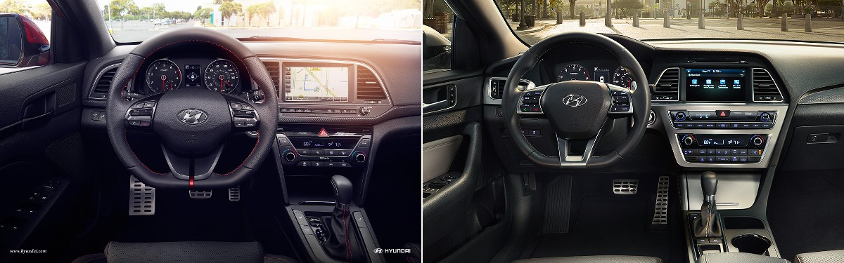 Elantra Interior 2017 >> 2017 Hyundai Elantra Vs 2017 Hyundai Sonata What Are The