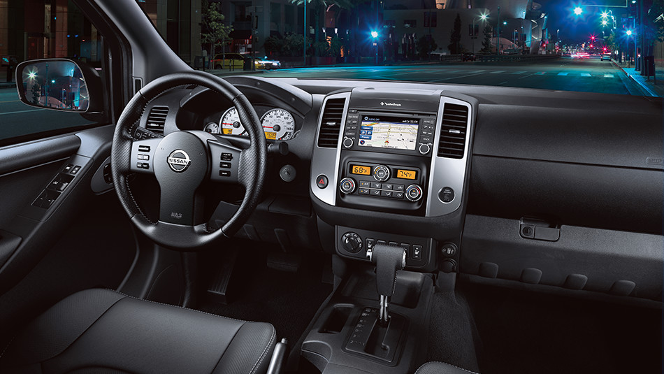 The Nissan Frontier's Roomy, High-tech Cabin.