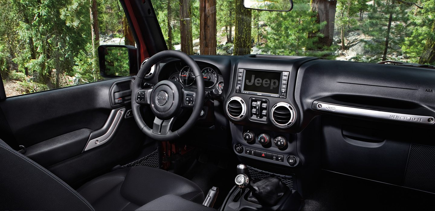 Interior of the 2017 Wrangler Unlimited