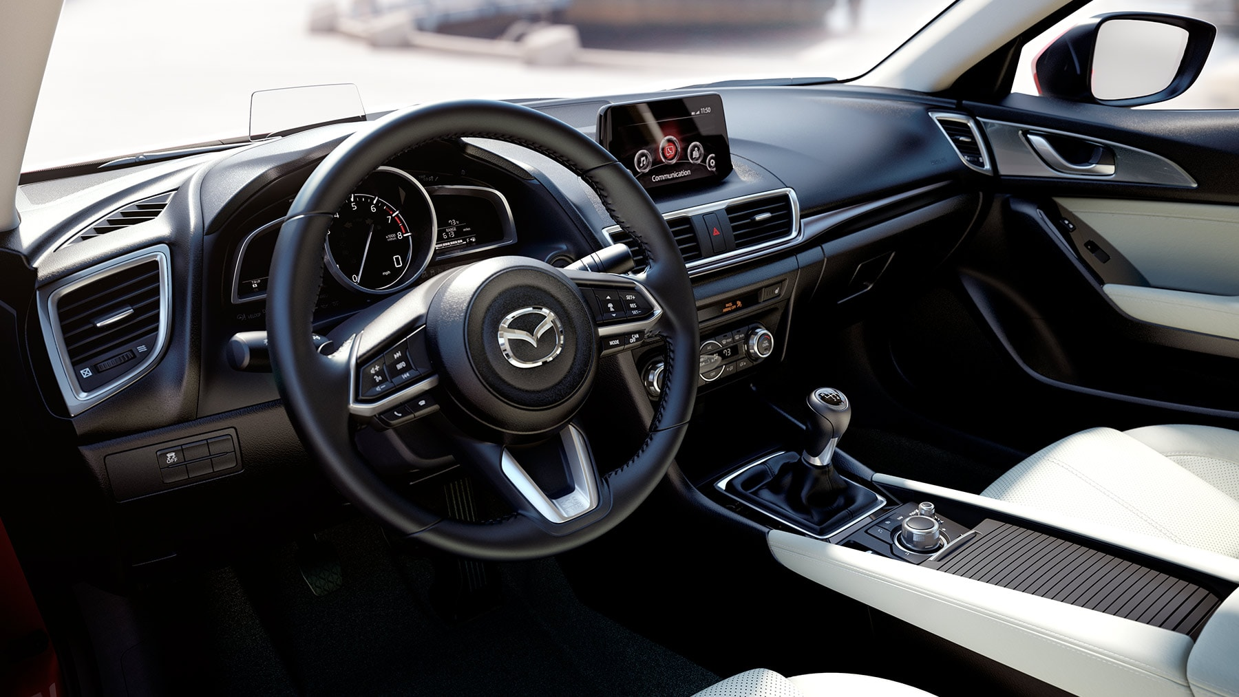 Interior of the 2017 Mazda3