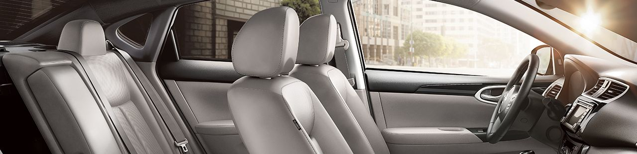 2017 Nissan Sentra Interior in Marble Gray Leather