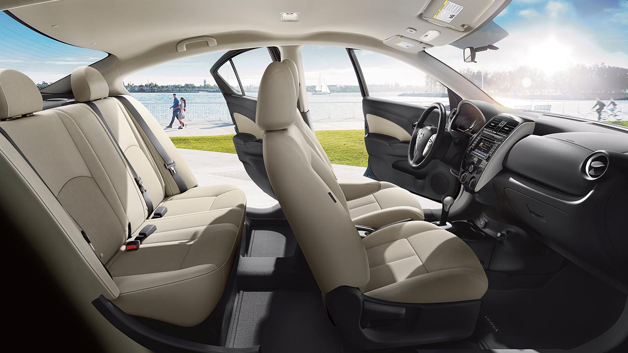 Captivating 2017 Nissan Versa Interior Shown In Upgraded Sandstone Cloth
