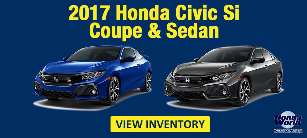 2017 Civic Si Coupe Sedan Orange County Westmintser