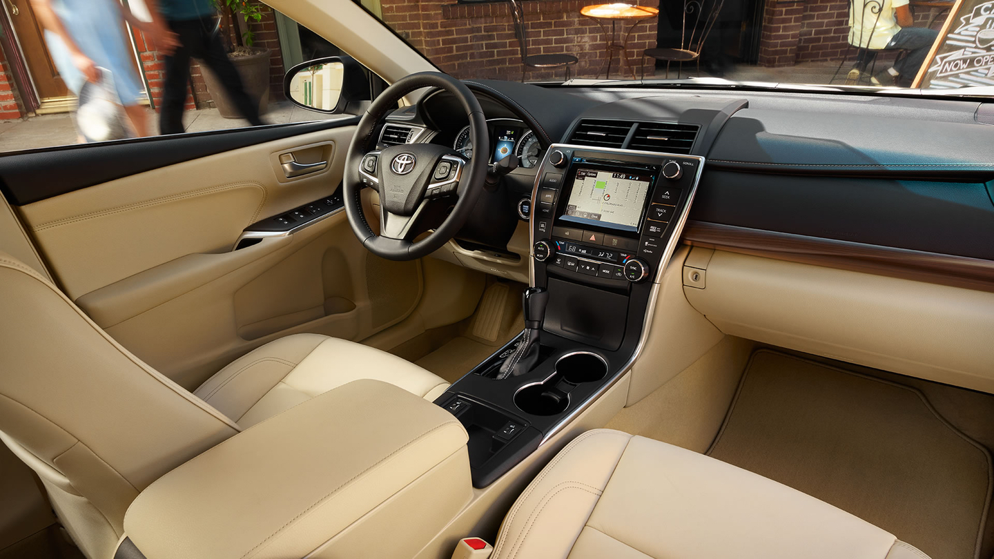 Camry Interior in Almond with Available Technology Package!